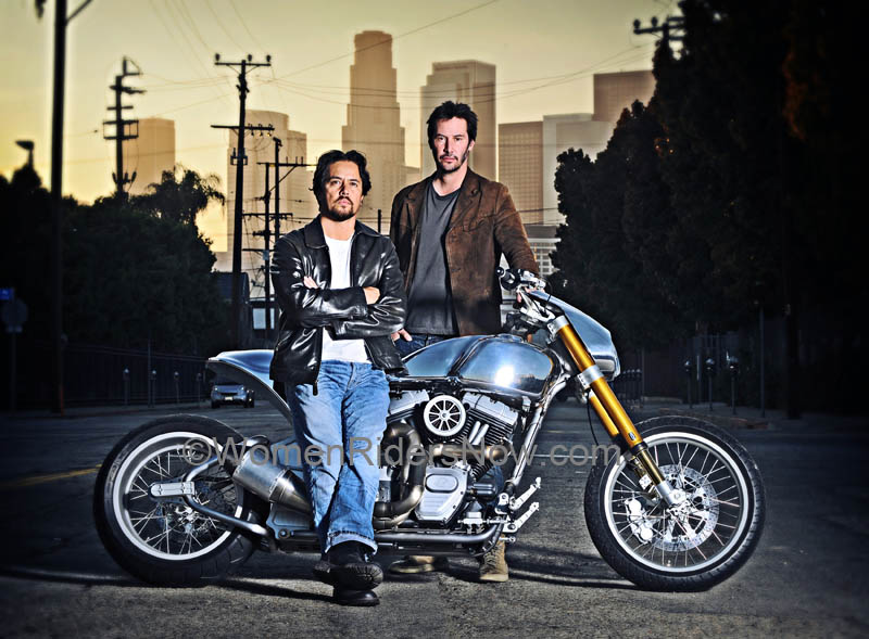 exclusive interview keanu reeves and his arch motorcycle company Keanu and Gard