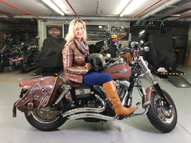 your motorcycles saddle brown iron pony dyna fat bob