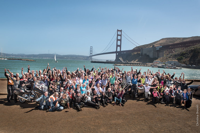 large scale womens motorcycle ride wraps up in san francisco sisters centennial ride