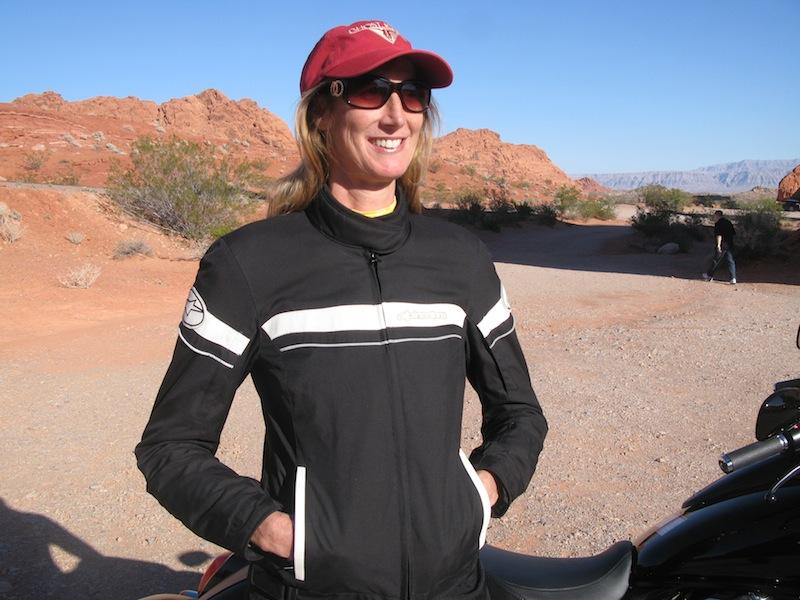 Alpinestars Stella T-Fuel Jacket Front on Woman Rider