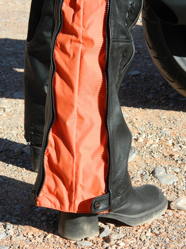 Harley-Davidson FXRG Leather Overpant Review Side View