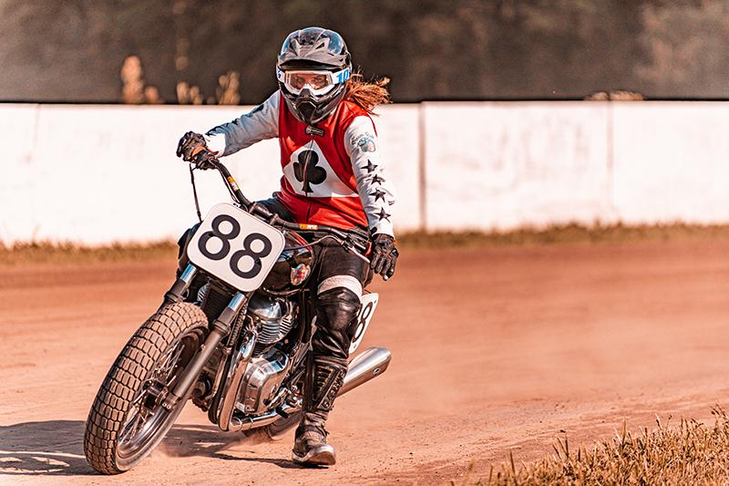 royal_enfield women riders build train race lanakila macnaughton racing flat track motorcycle