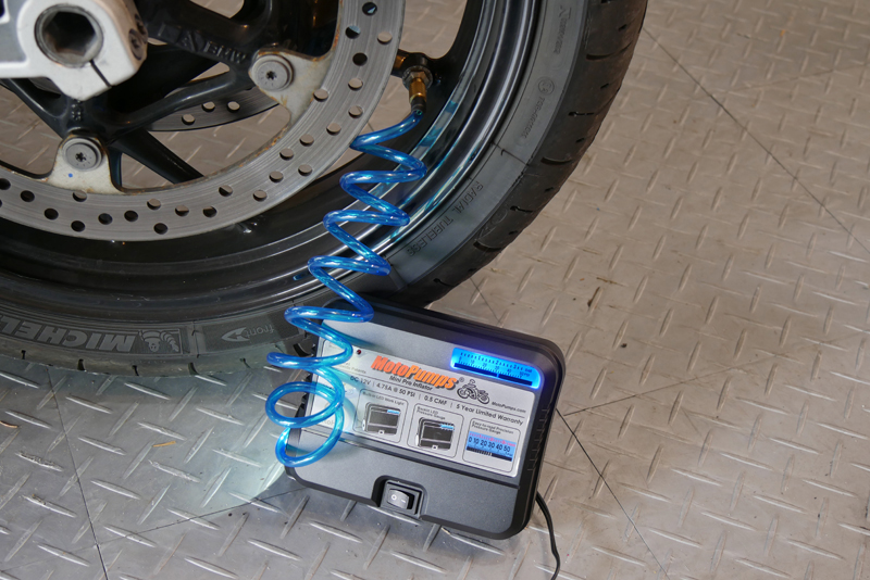 do it yourself motorcycle tire maintenance and inspection motopump air compressor