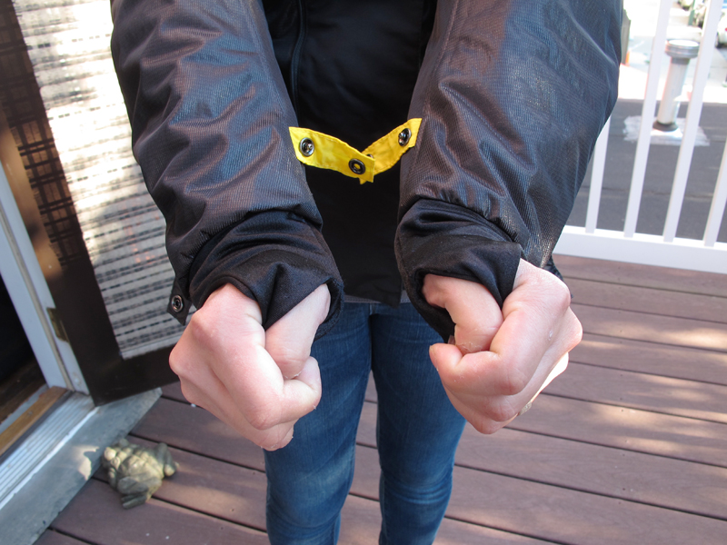 review three season textile jacket from scorpion thumb holes