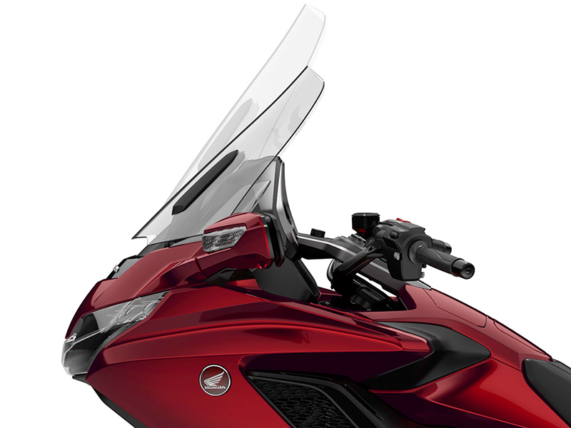 what we love about the new 2018 honda gold wing touring motorcycle electric windshield