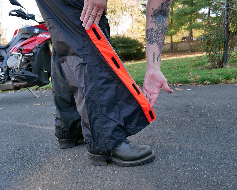 harley-davidson womens hi-vis rain suit orange reflective gear pant bottom boot