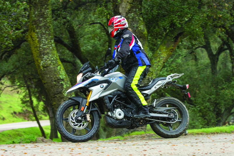 review bmw g 310 gs entry level dual sport dirt road