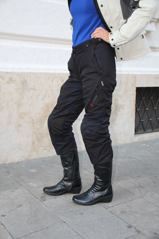review dainese gore-tex jacket and pants review knee armor
