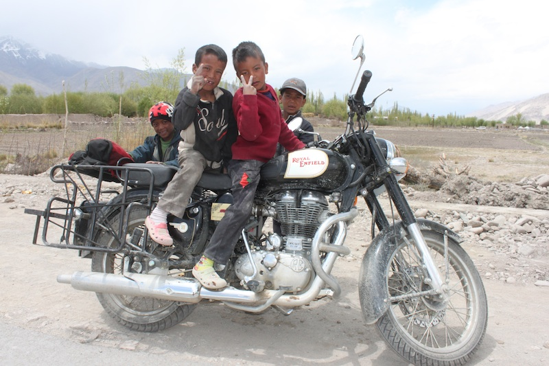 Backroads with Betsy Motorcycling in the Himalayas little boys