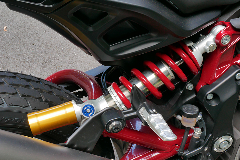 new bike review indian motorcycle ftr 1200 s v-twin roadster shock