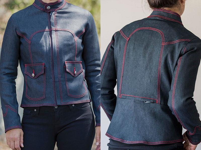 fashionable protective womens motorcycle apparel gigi montrose moto couture speed jacket