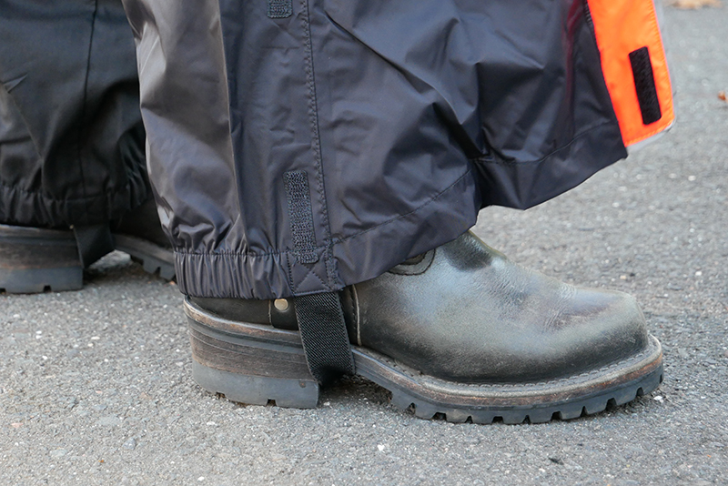 harley-davidson womens hi-vis rain suit orange reflective gear pant stirrup boot