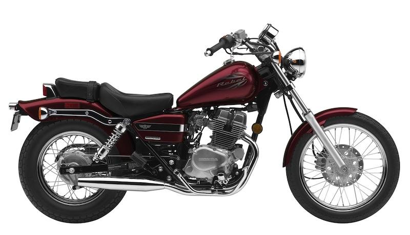 Honda Rebel Color Options 2012 red