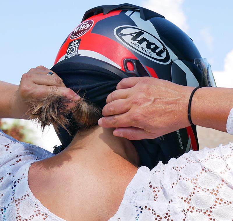 hightail bike hair protector eliminates tangles wind damage twist
