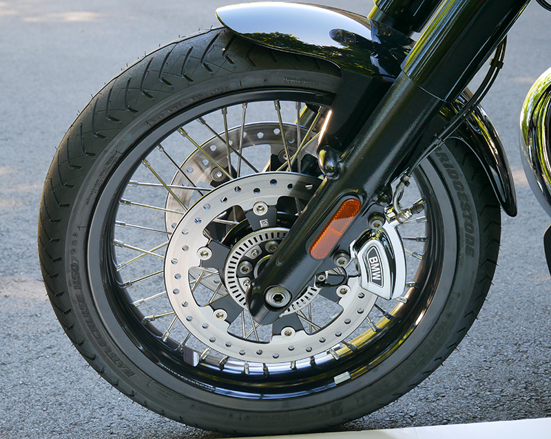 new motorcycle review 2021 BMW R 18 first edition front wheel