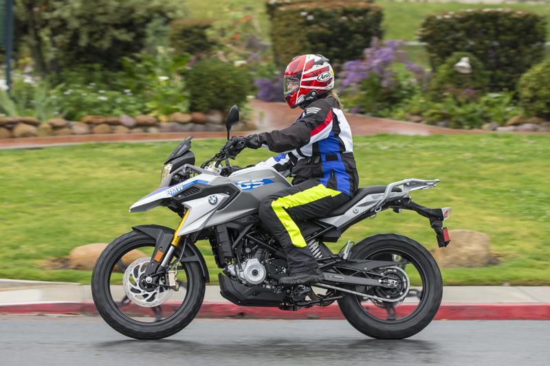 review bmw g 310 gs entry level dual sport riding rain