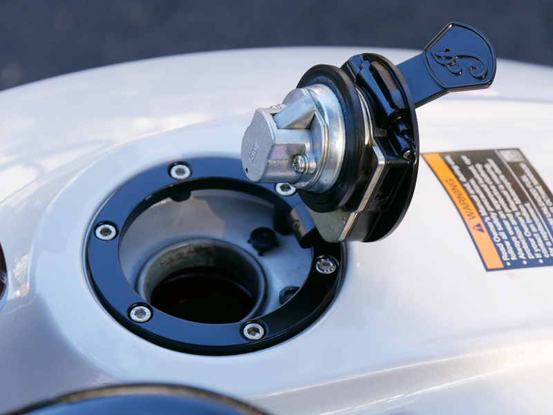review 2016 indian motorcycle scout sixty fuel door open