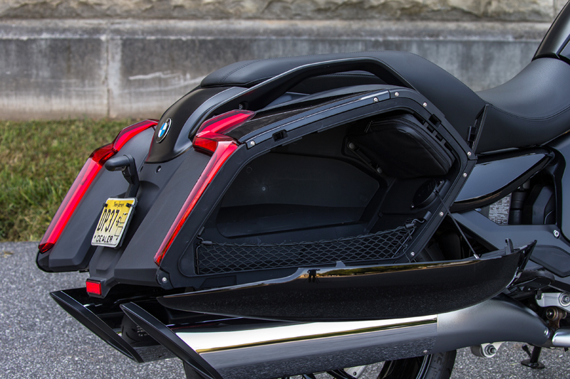 review 2018 bmw k 1600 b a bagger with innovative features saddlebags