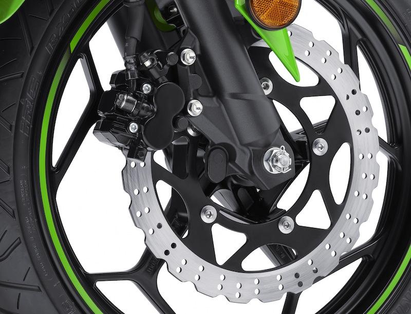 Kawasaki Ninja 300 Review Brake Discs