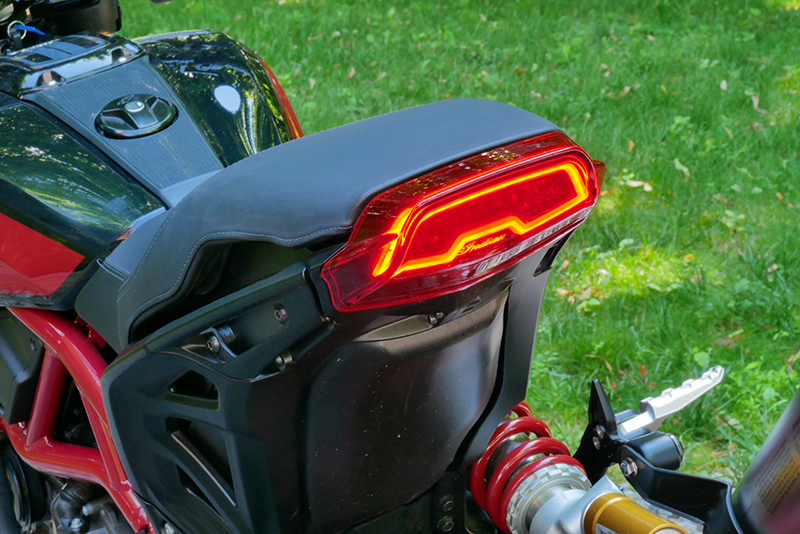 new bike review indian motorcycle ftr 1200 s v-twin roadster taillight