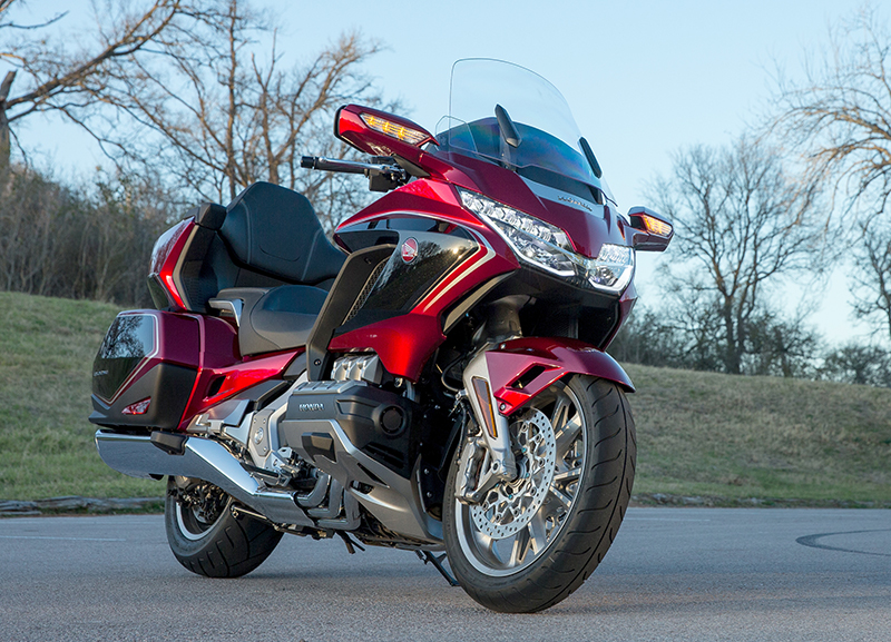 what we love about the new 2018 honda gold wing touring motorcycle LED front