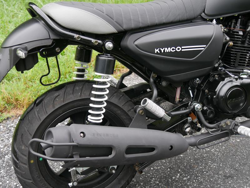 kymco spade 150 small motorcycles big fun suspension shock