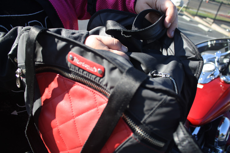 review the lauren bag by motochic carry strap