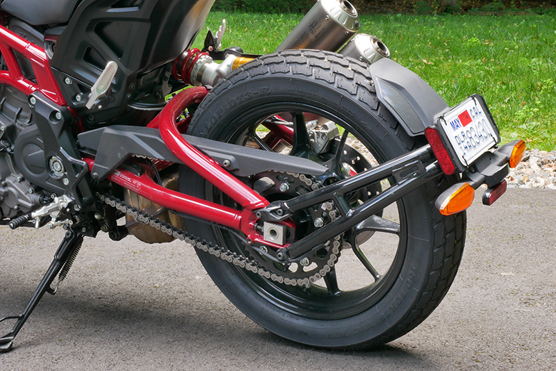 new bike review indian motorcycle ftr 1200 s v-twin roadster rear wheel chain