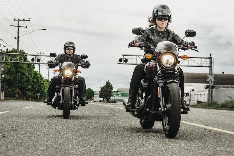2015 harley davidson street 500 and 750 two riders