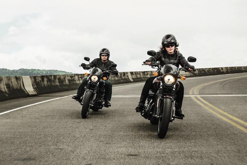 2015 harley davidson street 500 and 750 man and woman riderr