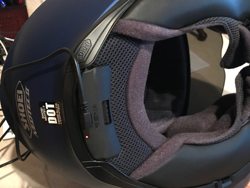 review shoei neotech ii with sena srl communication system charging