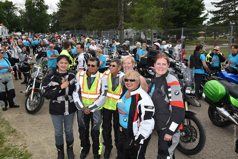 large scale womens motorcycle ride wraps up in san francisco gin shear sue slate erin sills diane ortiz