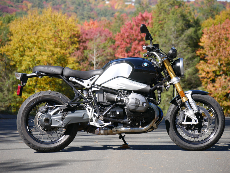 review 2016 bmw r ninet inverted telescopic fork
