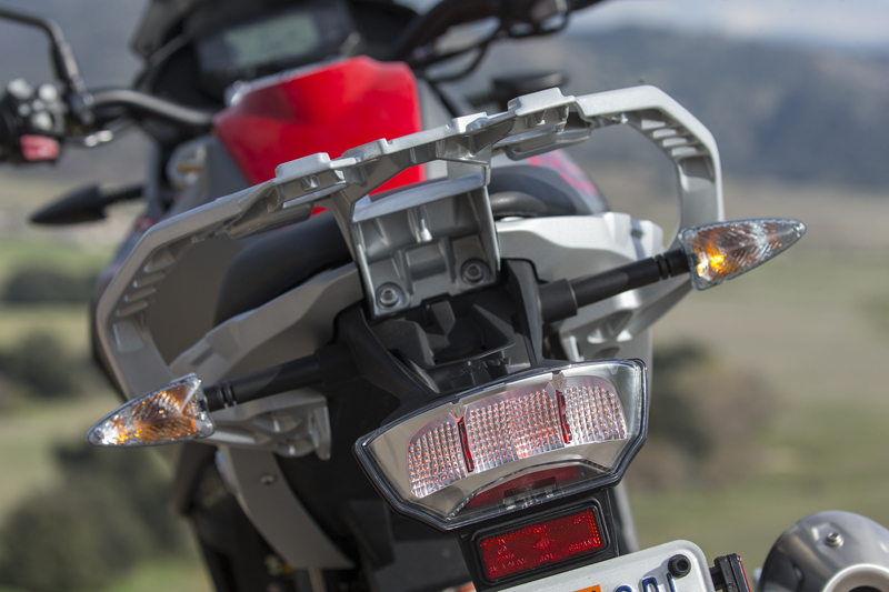 review bmw g 310 gs entry level dual sport tailight