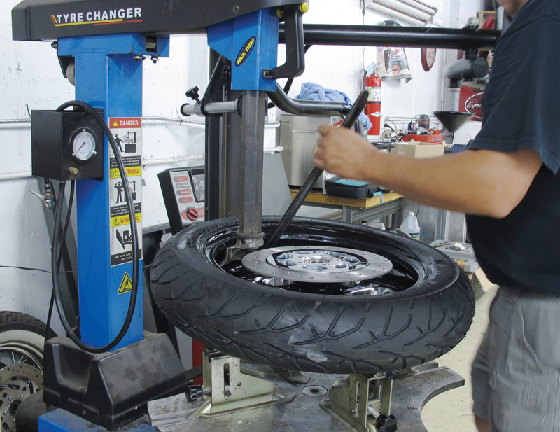 do it yourself motorcycle tire maintenance inspection tire change