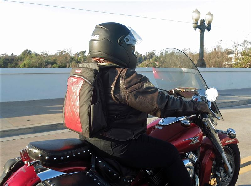 review the lauren bag by motochic riding highway