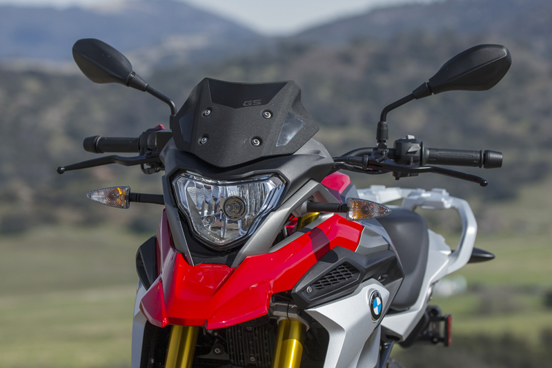 review bmw g 310 gs entry level dual sport windshield