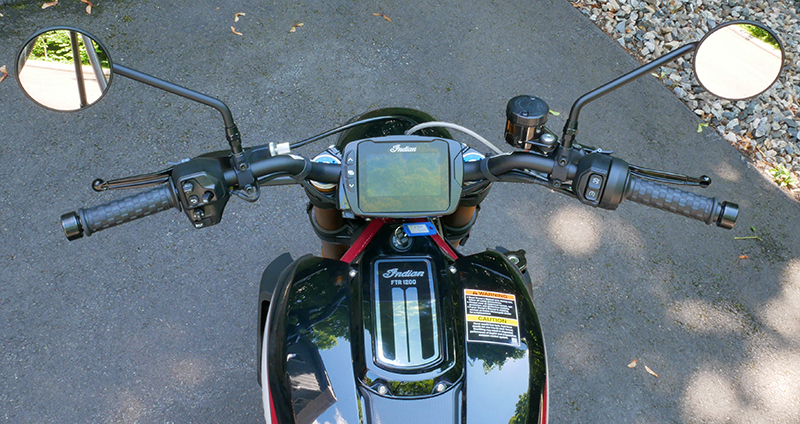 new bike review indian motorcycle ftr 1200 s v-twin roadster handlebar
