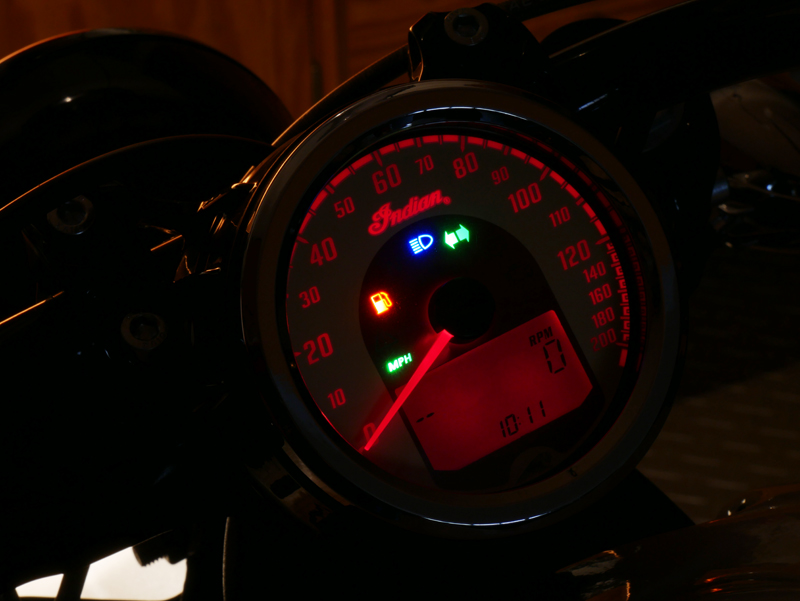 review 2016 indian motorcycle scout sixty display at night