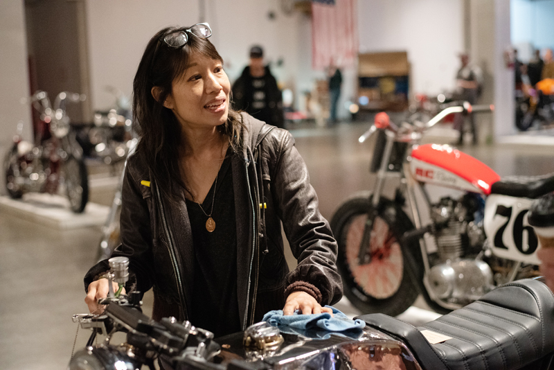 meet top women motorcycle builders now shirley one moto show