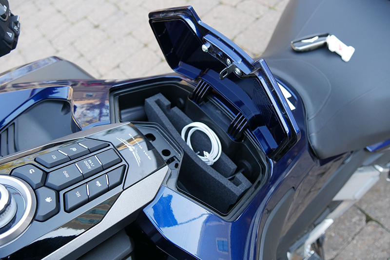 what we love about the new 2018 honda gold wing touring motorcycle phone pocket