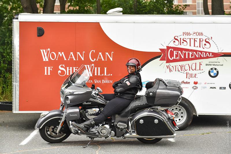 large scale womens motorcycle ride wraps up in san francisco sarah moreau indian roadmaster