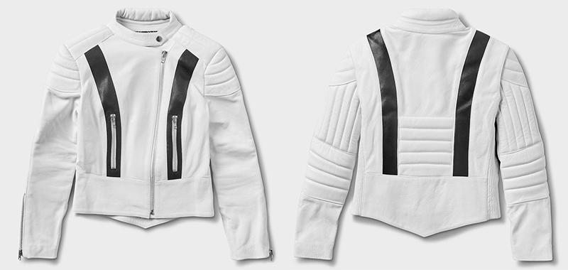 fashionable protective womens motorcycle apparel stellar moto brand white starfield jacket
