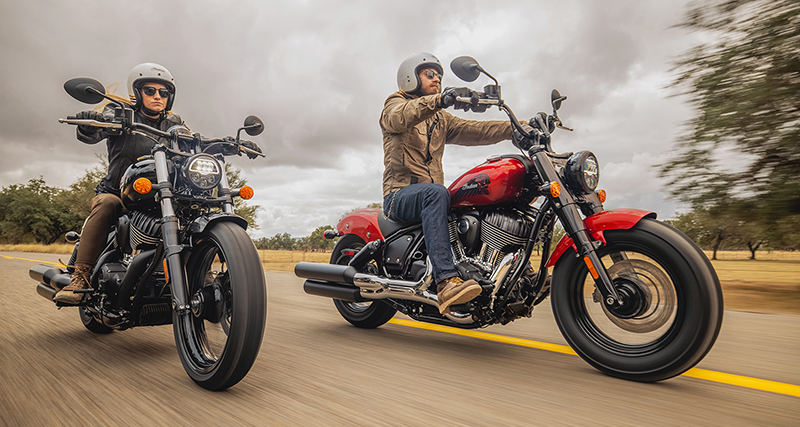 new motorcycle review 2022 indian chief man and woman riding