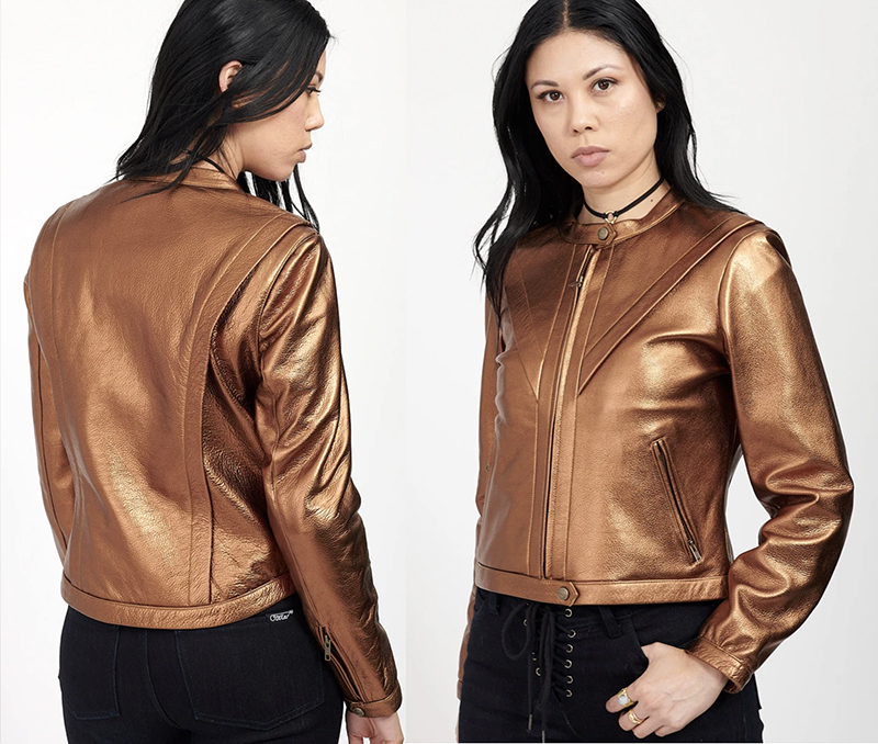 fashionable protective womens motorcycle apparel stellar moto brand voltage jacket