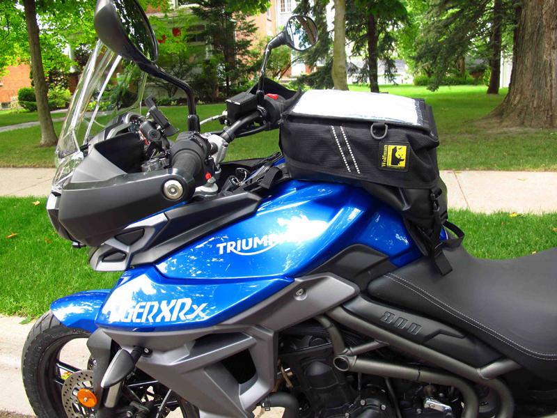 review wolfman expedition tank bag triumph tiger