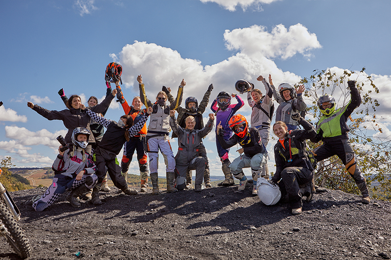 over and out moto womens off road event group