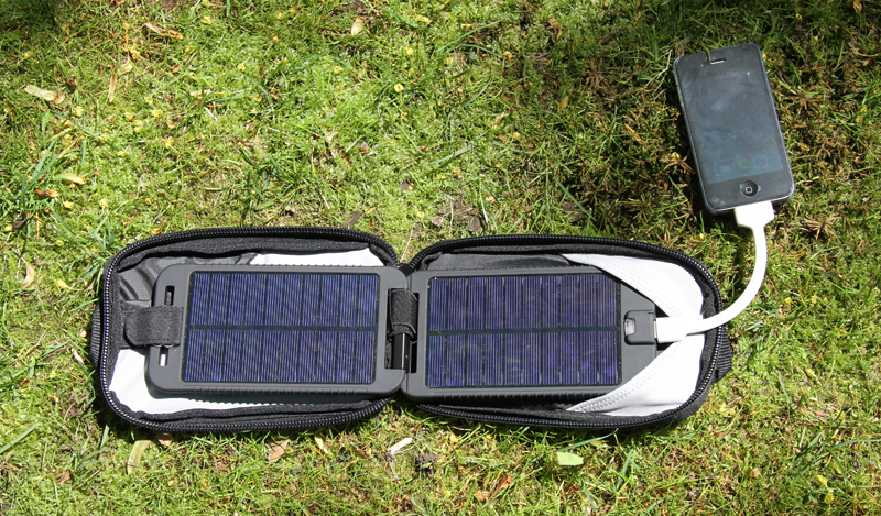 review solar charger for motorcycle camping SolarMonkey
