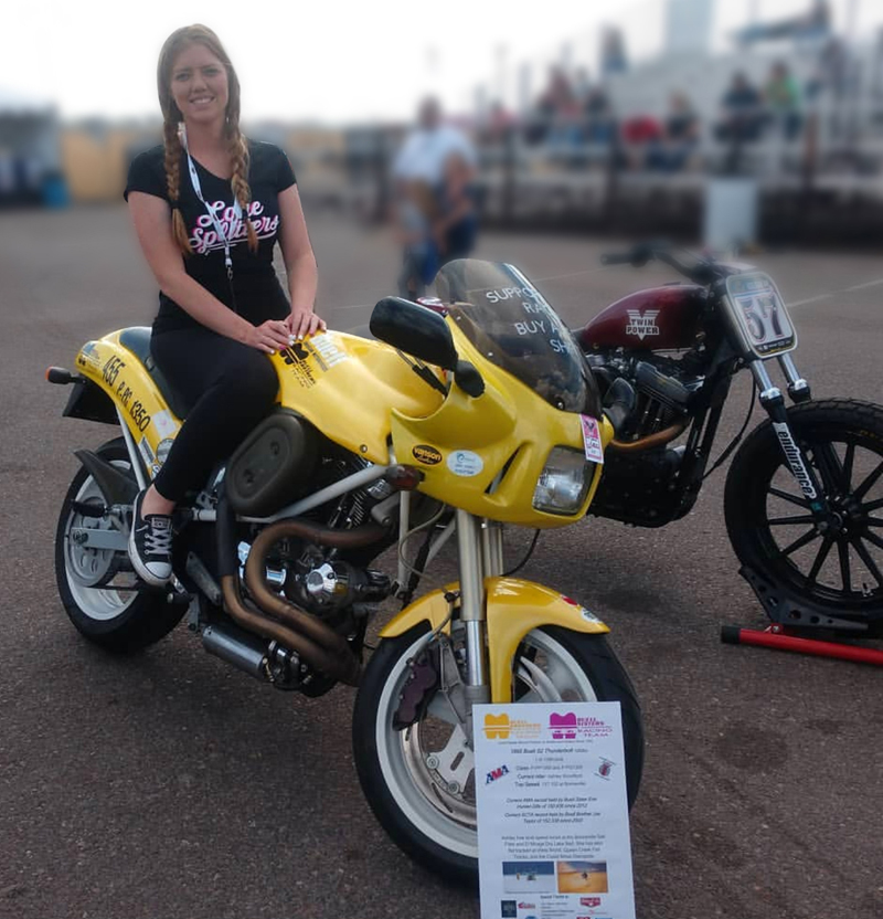 learning to ride and immediately racing the bonneville salt flats ashley woodford