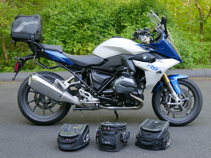 easy mount tank bags for standard sport sport-touring motorcycle BMW R 1200 RS GIVI
